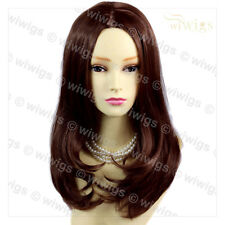 Wiwigs Soft Face Framed Long Dark Auburn Red Natural Mix Ladies Wig