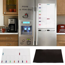 Large Fridge Notice A3 Board Magnetic Memo Weekly Family Meal Planner Whiteboard