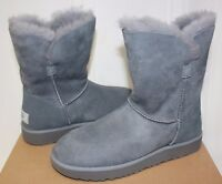 UGG Women's Classic Cuff Short Geyser grey Suede boots New With Box!