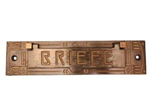 Originale ANTIKE Briefklappe Briefeinwurf Briefschlitz Briefkasten Altbau 1908