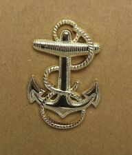 """Lapel pin NEW Badge USN Navy Midshipman 1-7/8"""" Gold Plated Brass"""