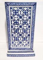 """Lovely Blue & White Porcelain Vase 9 1/2"""" Tall"""