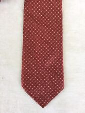 Brioni Neck Tie Jacquard Pin Dot  Burnt Orange Italy EUC