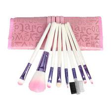 8 PEZZI PROFESSIONAL PINK Make Up Brush Set
