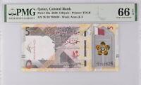 Qatar 5 Riyals ND 2020 P 33 Gem UNC PMG 66 EPQ