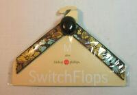 Lindsay Phillips SwitchFlops 7-8 Medium Interchangeable Straps *ALICE* Brn/Multi
