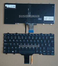 NEW for DELL Latitude E5250 E7250 Keyboard Backlit No Frame No Pointer Black UK