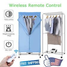 Portable Electric Clothes Dryer Heater Wardrobe Folding Drying Machine w Remote