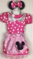 Disney's Minnie Mouse Baker's Dress Just Play Pink Polka Dot Sz 4-6x Costume