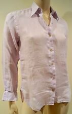 PINK THOMAS PINK Women's Lilac 100% Pure Linen Collared Blouse Shirt Top UK6 34
