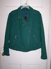 Torrid Textured Knit Moto Zip Jacket Green Plus Size 2 2X 18/20 New w/Tags