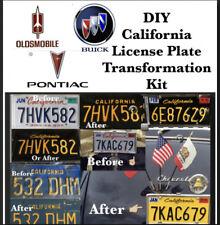 DIY cALIFORNIA Legacy License Plates BUICK OLDSMOBILE PONTIAC