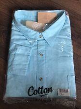 Men's Cotton Traders Long Sleeve Shirt Size XXXXXL Light Blue