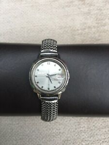 VINTAGE LADIES SEIKO WATCH - STAINLESS STEEL 20mm FACE 21 JEWELS