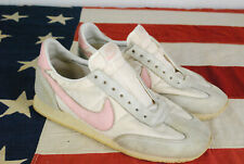 Vintage 80s Nike Tennis Shoes Sneakers White Pink 8.5 Cortez 1984
