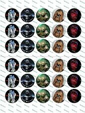 "30 Precut 1"" Star Wars Bottle Cap Image Set 1"