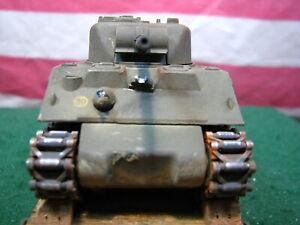 Rare Custom Sherman Tank On Pola Maxi Flat Car W Real Wood Deck, Die Cast Trucks