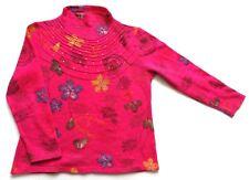 Women's Ladies Vintage Pink Floral Patterned Jumper Retro Boho 10