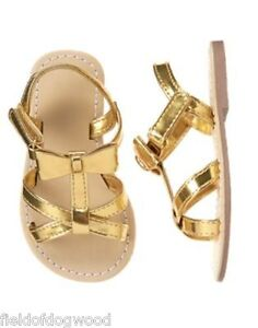 NEW GYMBOREE Island Hopper Gold Bow Sandals Shoes Toddler Girls 5 6 7 8 9 10