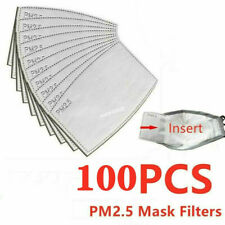 50-100 Pcs Outdoor 5 Layers PM2.5 Activated Carbon Filter Face Cover