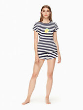 Kate Spade NWT Short PJ Set Look on the Bright Side Navy Stripe Size M MSRP $78
