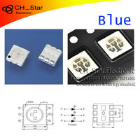 100PCS SMD SMT 5050(2020) PLCC-6 3-CHIPS LED Blue Light Emitting Diodes Chip