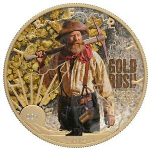 USA 2019 $1 LIBERTY Faces of America - Gold Rush 1 Oz Silver Coin