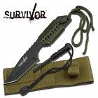 "SURVIVOR HK-106320 FIXED BLADE KNIFE 7"" OVERALL W/FIRE STARTER NEW"