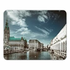 "Mousepad ""Hamburg"" - 24x19cm - Rathaus - Alster - Hansestadt - Mauspad"