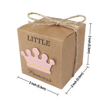 10PCS Little Princess Prince Baby Shower Gift Favor 1St Birthday Party Candy Box