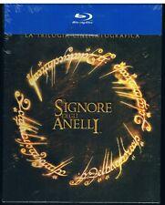 IL SIGNORE DEGLI ANELLI LA TRILOGIA BOX 3 BLU RAY DISC + 3 DVD DELUXE SIGILLATO!