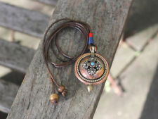 Tibetan Prayer box Locket necklace Unique handmade boho vintage style jewellery
