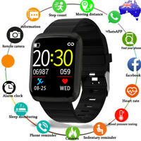 Waterproof Bluetooth Smart Watch Heart Rate Monitor Wristband For iOS Android AU