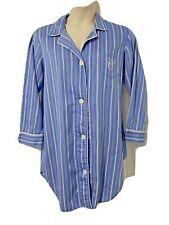 Ralph Lauren Chaps Sleep Nightshirt Gown Loungewear Blue Stripe Women's XL Extra