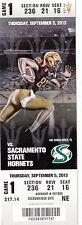 2013 ARIZONA STATE VS SACRAMENTO STATE HORNETS FOOTBALL TICKET STUB 9/5/13