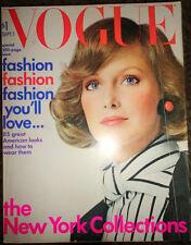 Vintage Vogue 9/1972 Irving Penn Richard Avedon Karen Graham Chanel fur ads