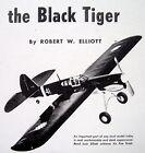 BLACK TIGER & Berkeley P-40 WARHAWK PLANS + BUILDING ARTICLE for UC Stunt Model