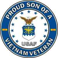 "Son of a US Air Force Vietnam Veteran 5.5"" Sticker 'Officially Licensed'"