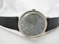 LUCIEN PICCARD 14K WHITE GOLD MECHANICAL GRAY DIAL DRESS WATCH