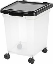 Pet Food Large Container Combo Kit Dog Cat Airtight Storage Bin Holder Wheels