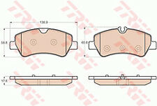 FORD TRANSIT 2.2D Brake Pads Set Front 2012 on TRW 1763915 BK212K021AA 1842632
