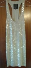 L'art *RIVER ISLAND* Dress Sequins Nude/Beige Size 12 Special Occasion Party