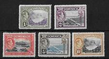 More details for (14) dominica 1938-47 definitive top values sg106-108a mint cat£85 (5v)