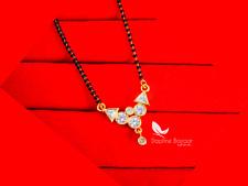ME25, Classy Daily Wear Zircon Studded Golden Daphne Mangalsutra, Featuring B...