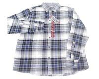 NWT EDDIE BAUER Bristol Soft Pre Shrunk Cotton Plaid Flannel Long Shirt Mens XL