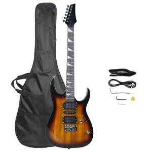 Electric Guitar Beginner Kit 39 Inch Full Size Sunset Starter Package with Bag