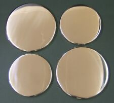 """New Set x 4 """"Stainless """"  Enamel Electric Oven Hob Covers - 2 x 16cm & 2 x 20cm"""