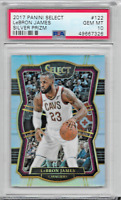 2017/18 PANINI SELECT LEBRON JAMES SILVER PRIZM PSA 10 GEM MINT #122 LAKERS