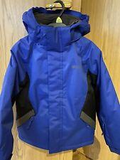 Boys Snow Ski Jacket 5-6 Blue Mountain Warehouse Winter Worn Once