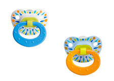 Nuk 62814 6-18 Months Tye Dye Silicone Orthodontic Pacifier 2 Count Boys Colors